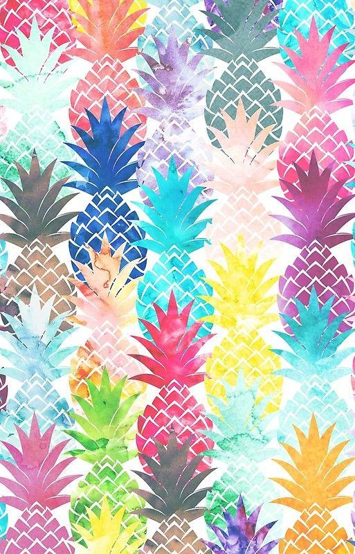 Hawaiian Pineapple Pattern Tropical Watercolor Iphone Case By Girlytrend Watercolor Pineapple Pattern Pineapple Wallpaper Pineapple Pattern