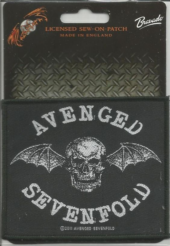 AVENGED SEVENFOLD Death Bat Woven Patch Sew On Official Band Merch