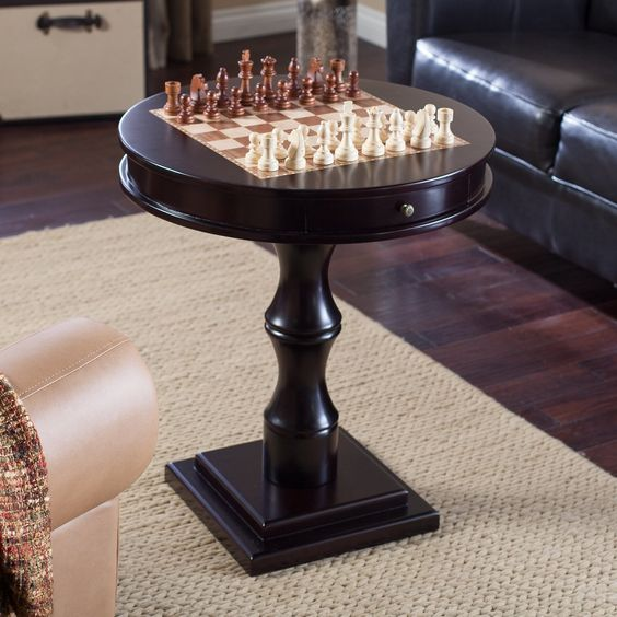 RST Espresso Artisan Chess Table - Chess Tables at Hayneedle: