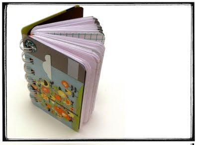 Day 2: Recycled Starbucks card mini notebook #30daysofcreativity