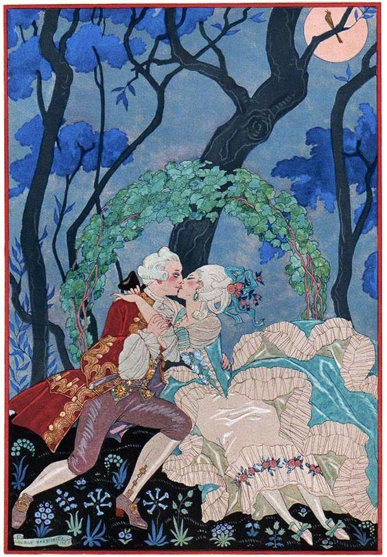 Georges Barbier (1882-1932) — 'Les Fêtes Galantes' by Paul Verlaine, 1920 (648×931):