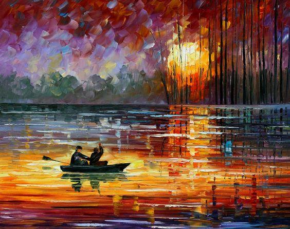 Night Fishing - Leonid Afremov