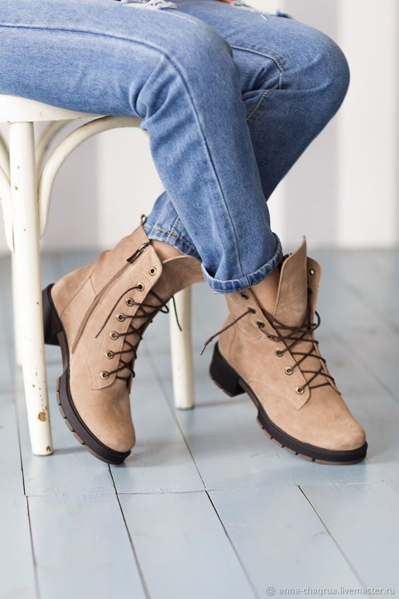 Suede boots | Купить Женские ботинки Anna Chaqrua в интернет магазине на Ярмарке Мастеров