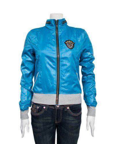 Blue Ladies Badge Logo Turtleneck Zipper Jacket Clothes Effect. $27.50