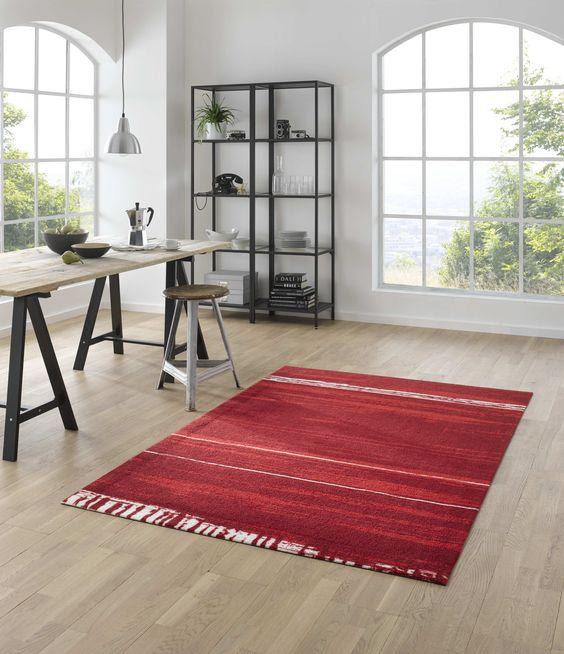Mehr als nur eine Fußmatte! Waschbarer Teppich Abadan red. #wash+dry #Kleen-Tex #Fußmatten #waschbar #trocknergeeignet #rutschsicher #Designmatten