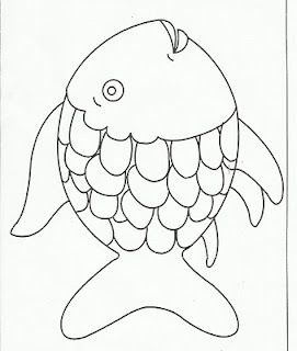 Rainbow Fish Template- The website is Squish preschool ideas. Tons of stuff for younger students arranged by month