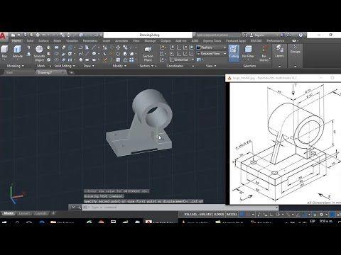 Dibujo 3d En Autocad Para Principiantes Modelado De Solido Extrude Presspull Youtube Impresion 3d Dibujos 3d Autocad