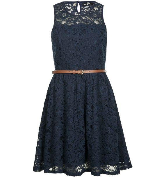 robe dentelle bleu marine mode pinterest. Black Bedroom Furniture Sets. Home Design Ideas