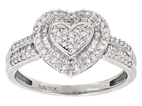 White Diamond 10k White Gold Ring 45ctw Sbg342 White Gold Rings White Gold Gold Rings