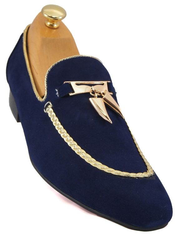 Switch out your basic loafers and add a pop of color with these. This style from Fiesso is cast in deep blue suede and have gold stitching around the top of shoe and opening. Silhouette features a slightly pointed toe and slip on wear. Whether you are at a dance event, an entertainer at the…