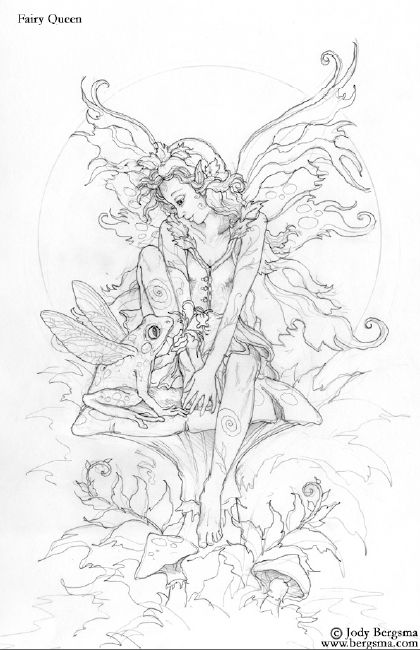 queen mermaid coloring pages-#10
