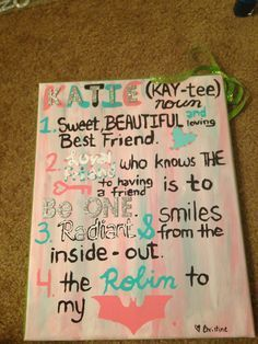 homemade gifts for your best friend - Google Search?