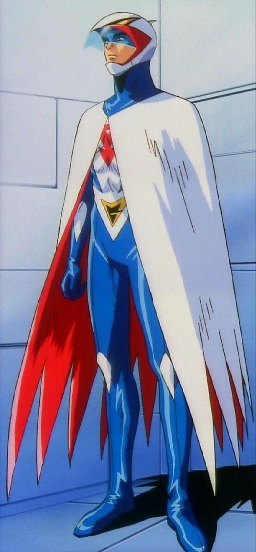 マントに身を包む大鷲の健のかっこいい画像。
