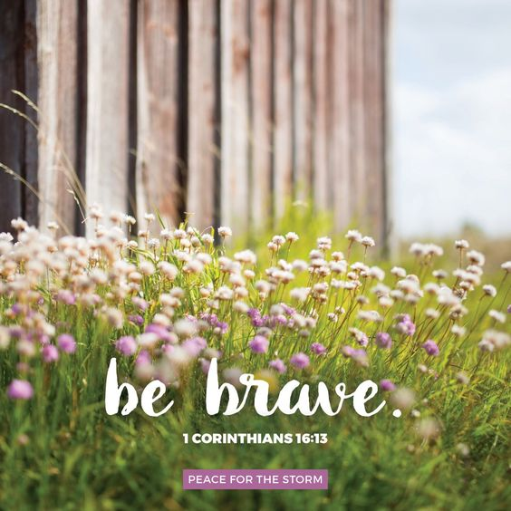 Watch, stand fast in the faith, be brave, be strong. 1 Corinthians 16:13 (NKJV)