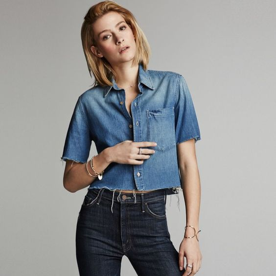 Cut and Run | The Frenchie Crop Fray Shirt