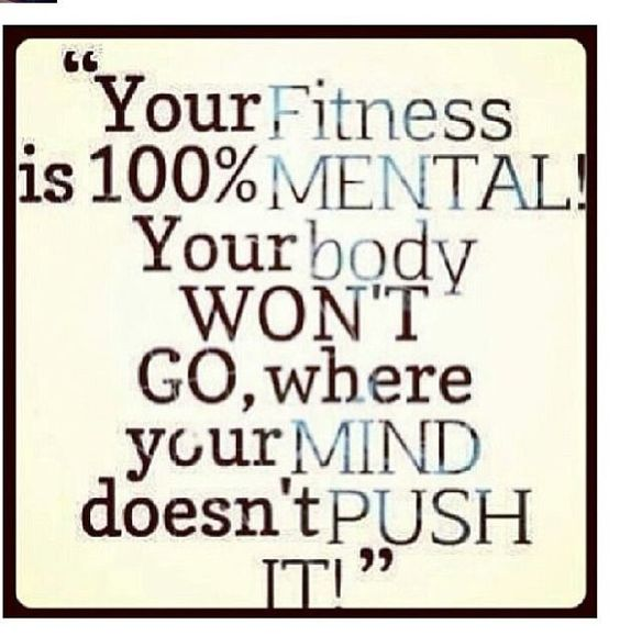 Your #Fitness is 100% Mental..Your body won't go...#fitspiration