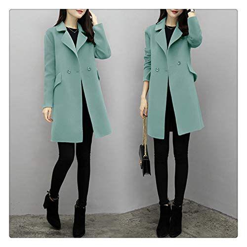 Womens Slim Winter Warm Trench Coat Long Wool Jacket Parka Cardigans Outwear US