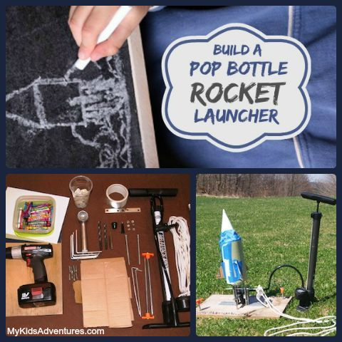 Build a rocket launcher with your kids and send your soda bottles soaring. This project is part drink, part craft, part building activity, all high-flying fun.