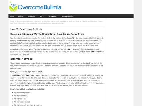 ① Overcome Bulimia - The Complete Treatment Guide - http://www.vnulab.be/lab-review/%e2%91%a0-overcome-bulimia-the-complete-treatment-guide