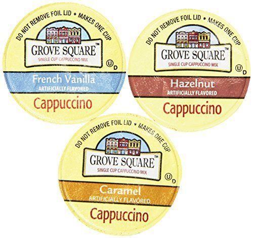 Grove Square Cappuccino Variety Pack, 72 Single Serve Cups 0.53 Oz - http://teacoffeestore.com/grove-square-cappuccino-variety-pack-72-single-serve-cups-0-53-oz/
