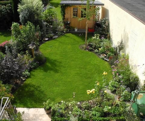 Ein Reihenhausgarten aus der Reihe Reihenhausgarten, Schöne - gartengestaltung reihenhaus beispiele
