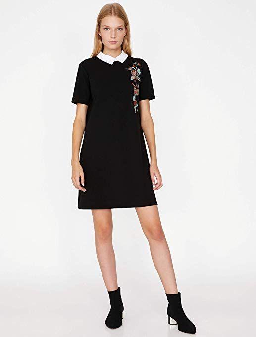 Koton Kadin Elbise Siyah S Moda Kadin Elbise Moda