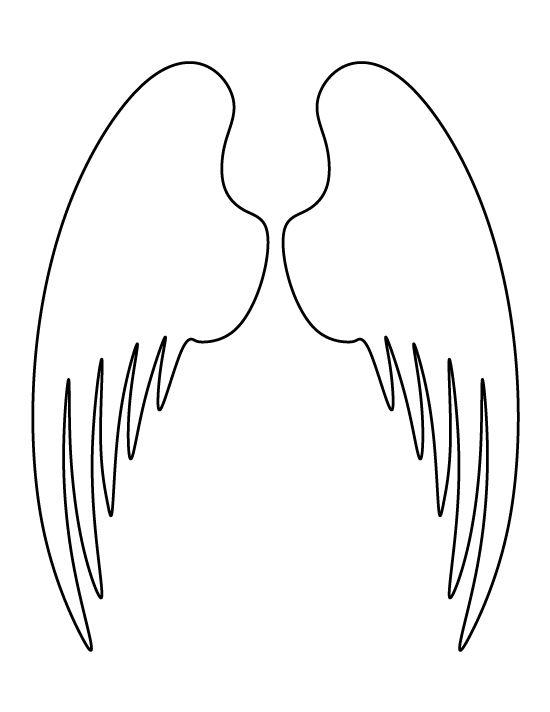 wings template wings pattern and more angel wings wings angel stencils ...