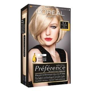 L'Oréal Paris Préférence Récital - 9.1 Zeer Licht Asblond. Viking blond voor een stoere uitstraling.  Préférence houd lang zijn kleur en is verkrijgbaar in vele intense en trendy varianten. Het nieuwe Hi-Shine Elixir en de langhoudende pigmenten geven een rijke kleur met een ultieme glans.