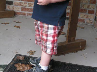 Monkey See, Monkey Do!: Toddler Shorts Repurposed from Men's Shorts
