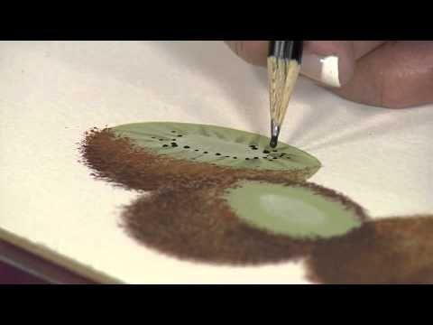 Aprenda a fazer um Kiwi em pintura realista! - YouTube