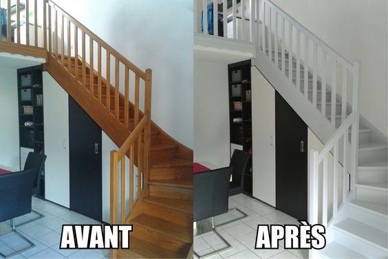 Peindre un escalier en bois maison pinterest for Peindre un escalier bois vitrifie