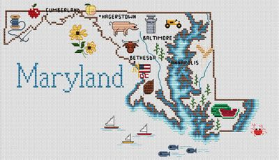 Maryland  Embroidery Projects  Pinterest  Cross Stitch
