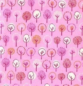 Wildwood Trees Forest  in Fuchsia by Erin MacMorris by tisSEWcute, $8.50