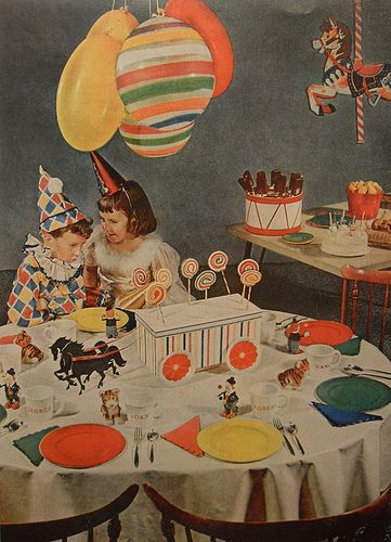 Birthdays retro kids and vintage party on pinterest for 1950s party decoration