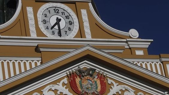凸顯「南半球創意」 玻利維亞國會大鐘逆時針轉動?