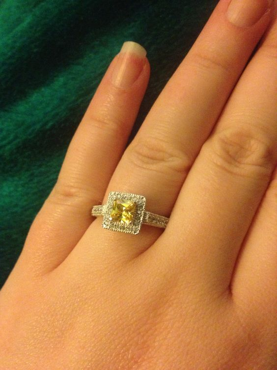I love my engagement ring! So much!