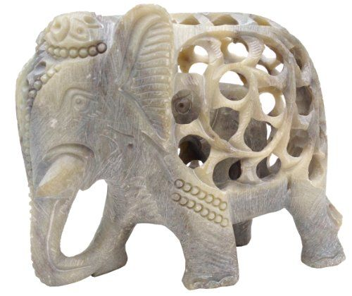 To view our entire Collection of Rare and Unique Sculptures, Please visit the link : http://amzn.to/1PKzWUb      SouvNear Elephant Decor Hand-Carved Statue from India - Impossible Stone Art - 5 Inch Handmade Soapstone Collectible Elephant Figurine Sculpture of Mother Elephant with Baby Inside - The best Baby Shower Gift      **IMPORTANT NOTE** - The images and information for this product have been created by SouvNear. You will get what you see only if you order from SouvNear. PLEASE…