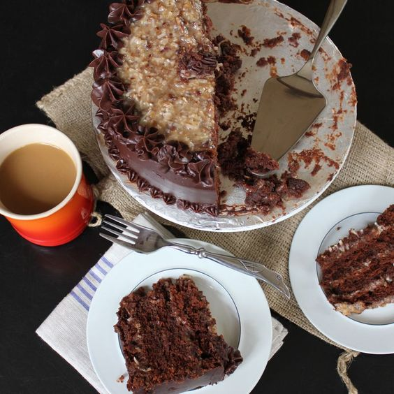 German Chocolate Cake. You know what I'm talking about, a big impressive chocolate layer cake with that distinctive coconut pecan frosting. It always seemed a bit intimidating to me and I had never...
