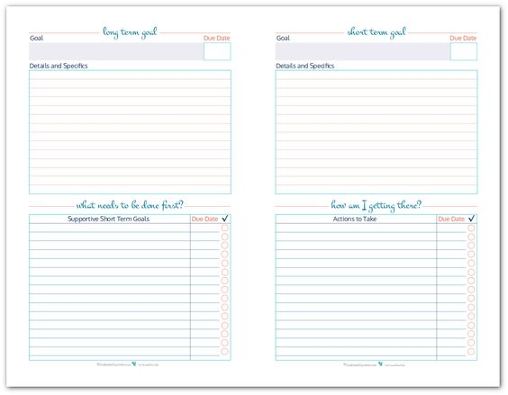 Worksheet Short And Long Term Goals Worksheet goal settings setting worksheet and sheet on half size printables to help you set plan track your