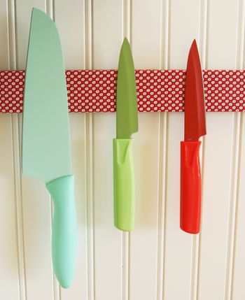 covered magnetic knife strips! What a great idea