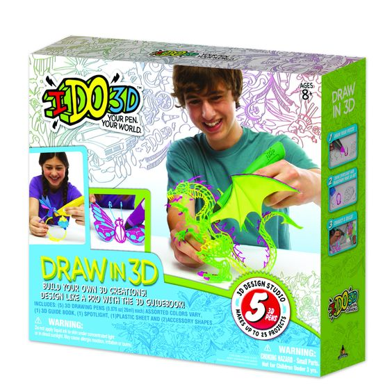 IDO3D Pen and Ink Up to 25 Projects Print System - 5 pens