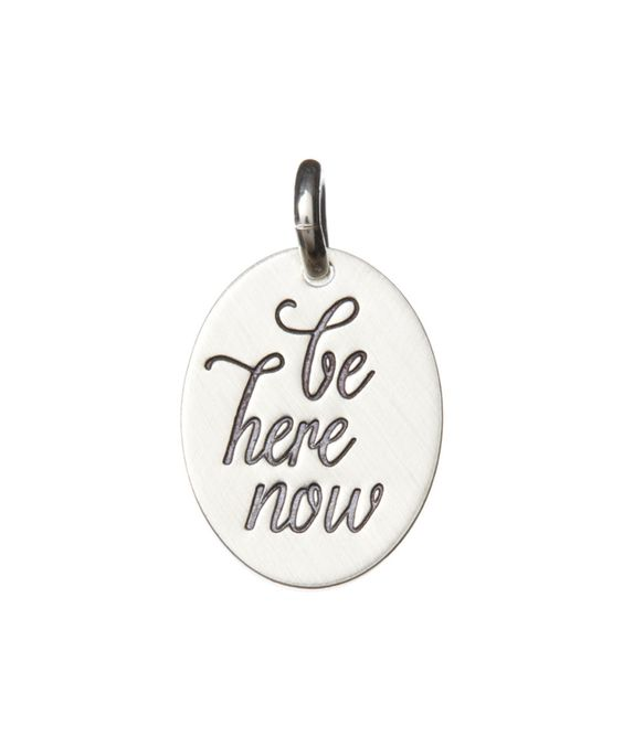 This Sterling Silver 'Be Here Now' Charm by FIVE by Littlefield Lane is perfect! #zulilyfindsv