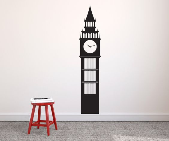 Big Ben Clock Tower - Travel Landmarks London Wall Decal Custom Vinyl Art Stickers by danadecals on Etsy https://www.etsy.com/listing/98501128/big-ben-clock-tower-travel-landmarks