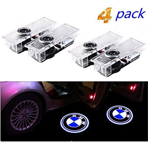 4 Pieces Voiture Porte Lumieres Led 3d Voiture Lumiere D Entree D Eclairage Bienvenue Projecteur Lampe Logo Lumiere In 2020 Bmw Logo Favorite Apps Vehicle Logos