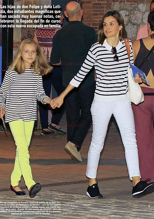 "King Felipe, Queen Letizia and their daughters, Princess Leonor and Infanta Sofía were spotted last Sunday at Matadero Madrid, enjoying ""A Midsummer Night's Dream""."