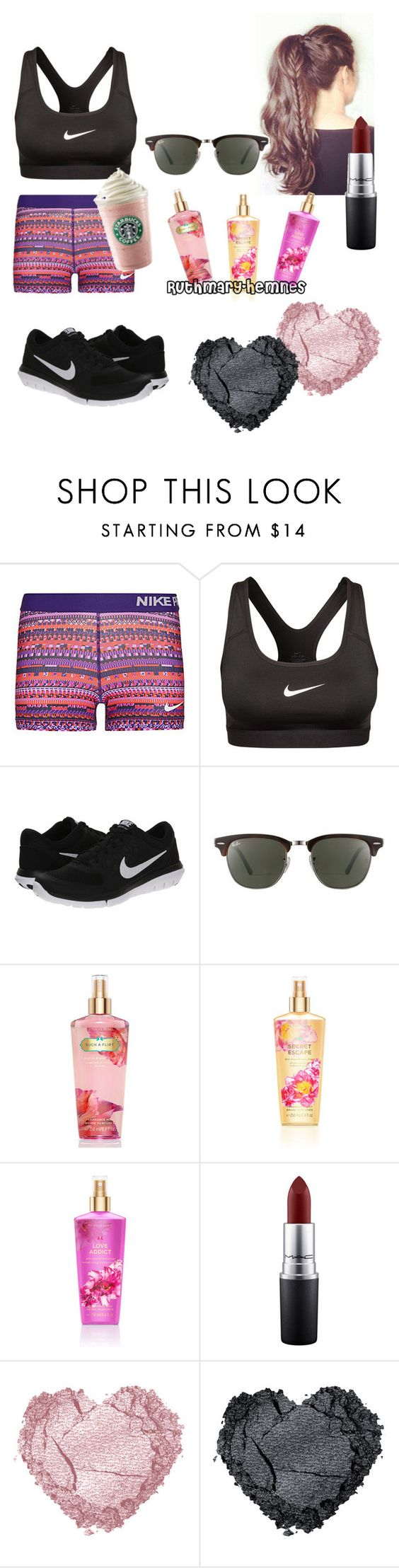 """Untitled #26"" by ruthmary-hemnes on Polyvore featuring NIKE, Ray-Ban, Victoria's Secret, MAC Cosmetics, women's clothing, women, female, woman, misses and juniors"