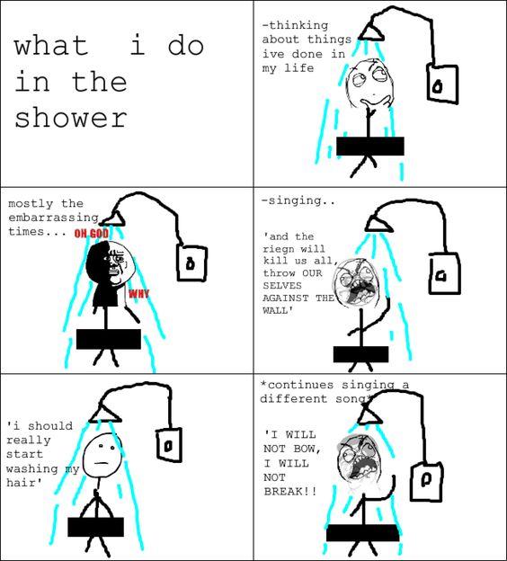 showering rage