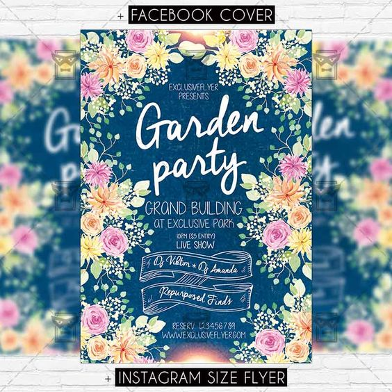 Garden Party – Premium PSD Flyer Template https://www.exclusiveflyer.net/product/garden-party-premium-psd-flyer-template/