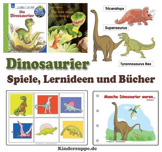 Dinosaurier-Spiele Lernideen und Bücher | Kindersuppe