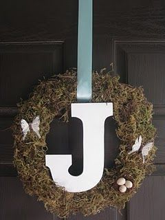 Spring Wreath.. without butterflies, flowers instead??